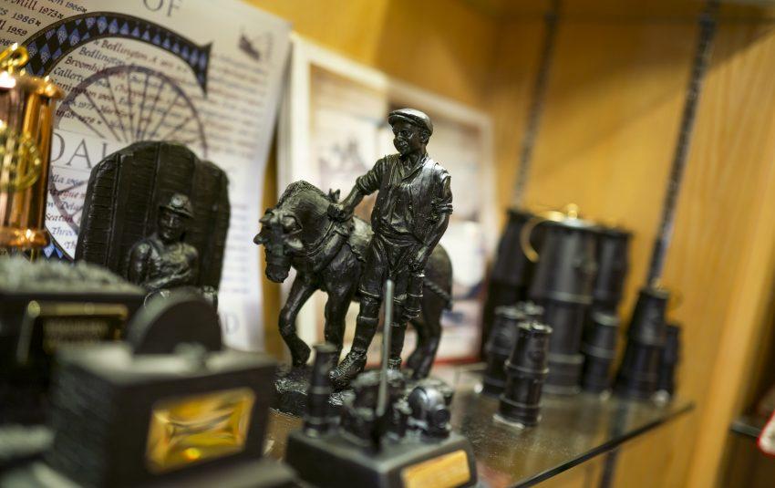 Museums Northumberland, Woodhorn Museuml gift shop coal figurine man and pony
