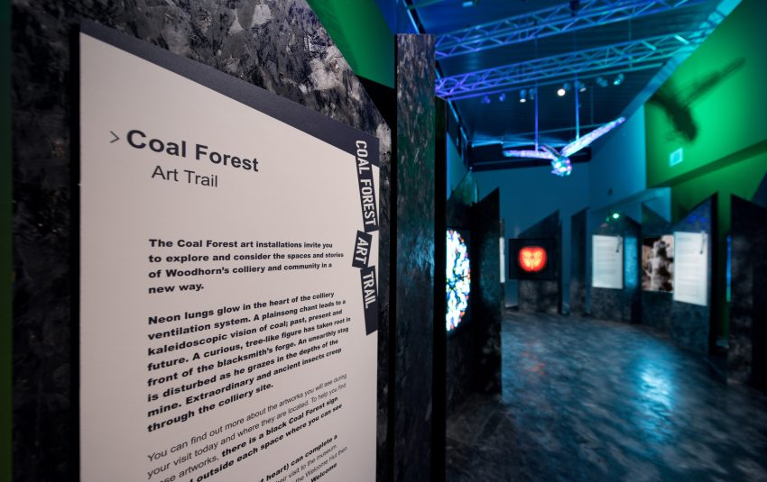 Museums Northumberland-Woodhorn Museum-Coal Forest art trail panel