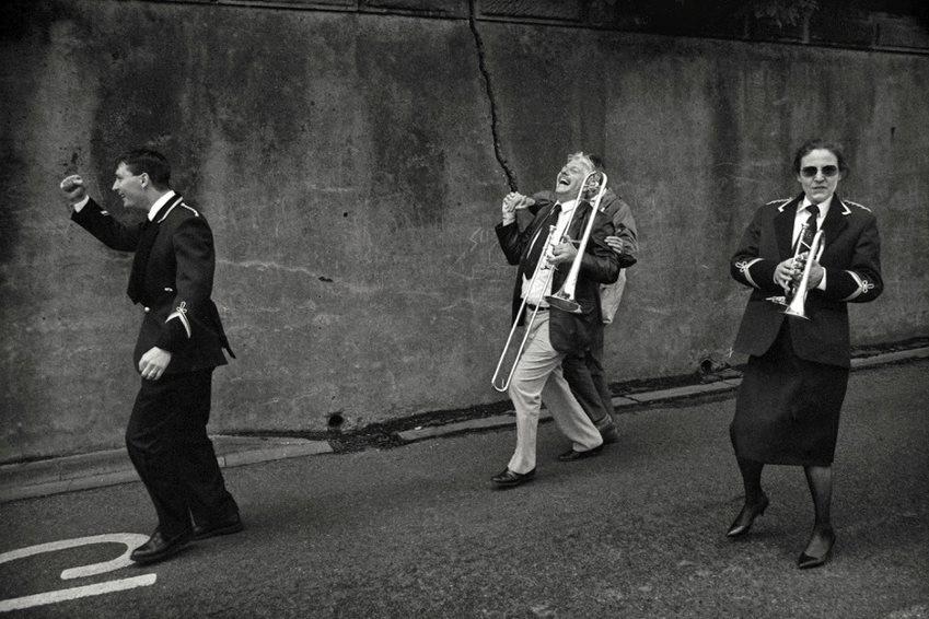 Mik Critchlow- Winning Brass Band- Northumberland Miners' Picnic 1990 photograph