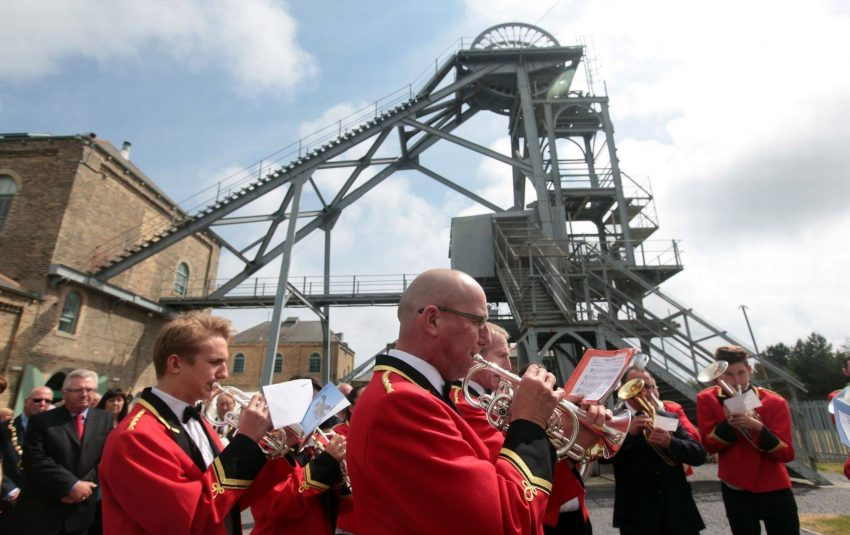 Ashington Colliery Band performing at Woodhorn